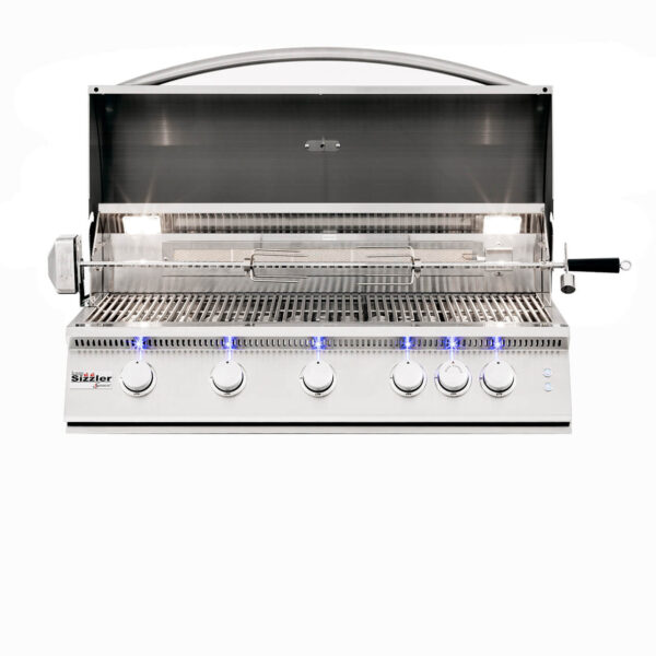 Summerset Sizzler Pro 40 Inch Built-in Barbecue Grill Open Head
