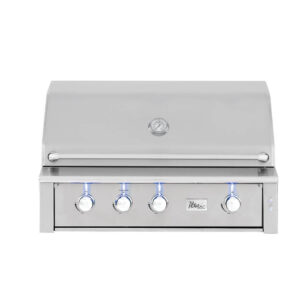 ALT42R - Alturi 42 Inch Barbecue Grill with Cast Brass Burners - Closed Grill Hood
