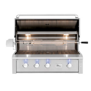 ALT42R - Alturi 42 Inch Barbecue Grill with Cast Brass Burners - Open Grill Hood