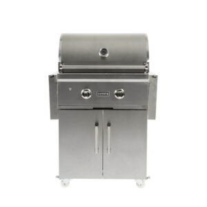 C1C28-FS Coyote Outdoor Living Freestanding C-Series 28 Inch Barbecue Grill and Cart - Closed Grill Head