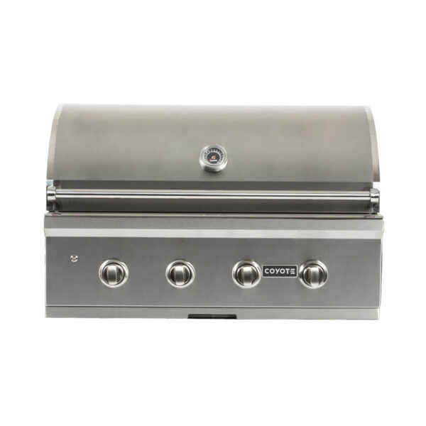 C1C36 Coyote Outdoor Living 36 Inch C-Series Built-in Barbecue Grill Head - Closed