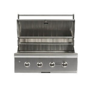 C1C36 Coyote Outdoor Living 36 Inch C-Series Built-in Barbecue Grill Head - Open