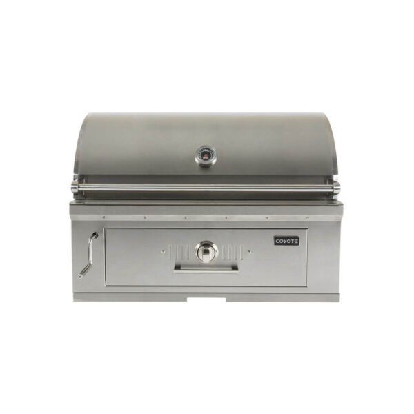 C1CH36 Coyote Outdoor Living Built-in 36 Inch Charcoal Barbecue Grill - Closed Grill Head