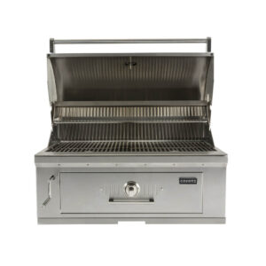 C1CH36 Coyote Outdoor Living Built-in 36 Inch Charcoal Barbecue Grill - Open Grill Head