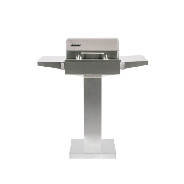 C1EL120SM Coyote Outdoor Living Single Burner 120v Electrical Grill on Pedestal