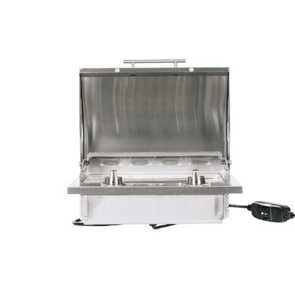 C1EL120SM Coyote Outdoor Living Built-in Single Burner 120v Electrical Grill - Open Head
