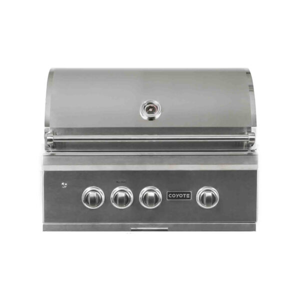 C2SL30 Coyote Outdoor Living 30 Inch S-Series Built-in Grill - Closed Grill Head