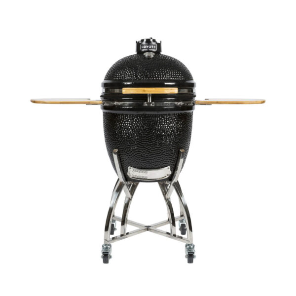 C1CHCS - Coyote Outdoor Living Asado Grill with Cart and Shelves - Open Shelves