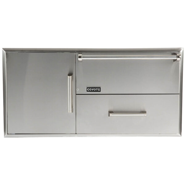 Coyote Outdoor Living Combo Storage Warming Drawer and Access Doors