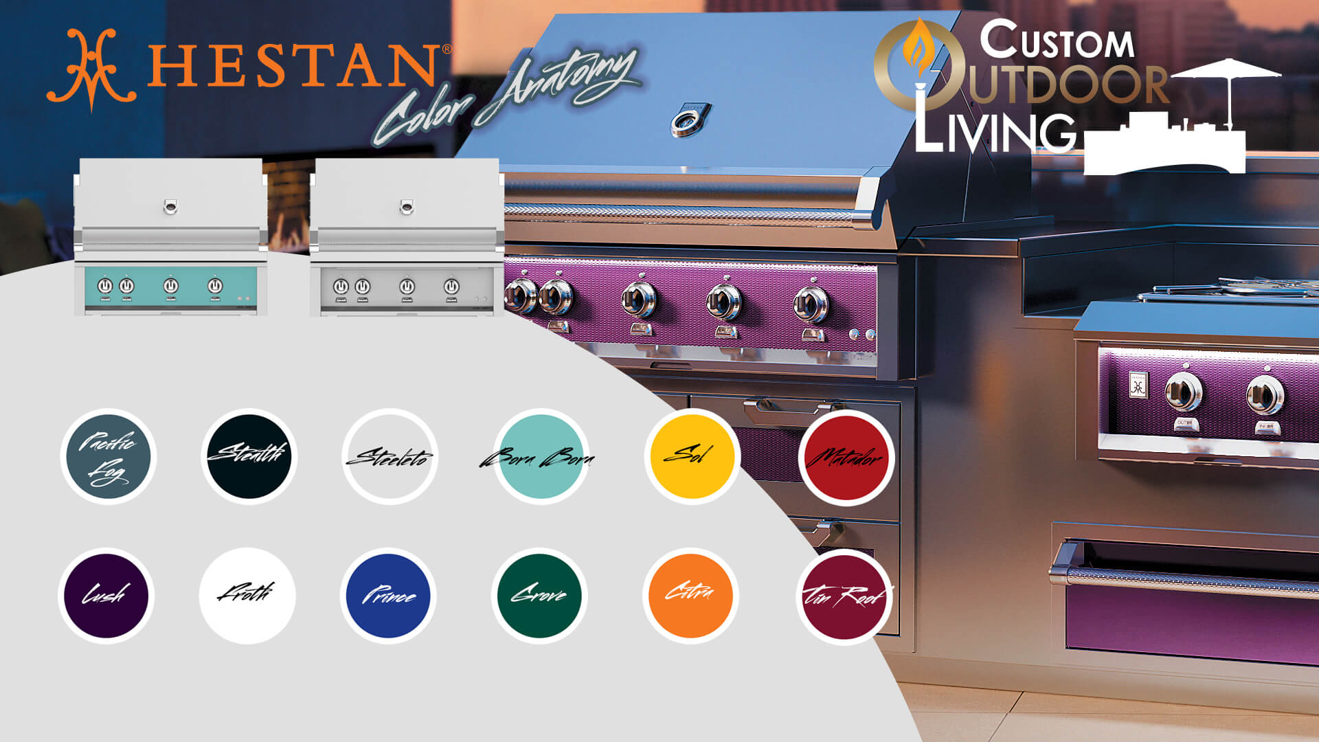 Hestan Outdoor Grill Color Chart