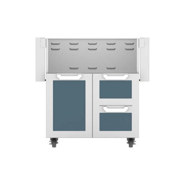Hestan Outdoor GCR Series 30 Inch Tower Cart Door & Drawer Combo - Pacific Fog