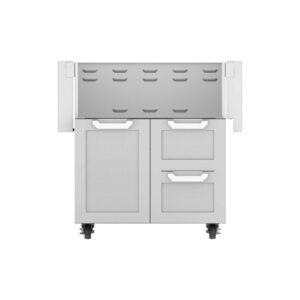 Hestan Outdoor GCR Series 30 Inch Tower Cart Door & Drawer Combo - Steeletto