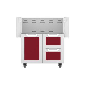 Hestan Outdoor GCR Series 30 Inch Tower Cart Door & Drawer Combo - Tin Roof