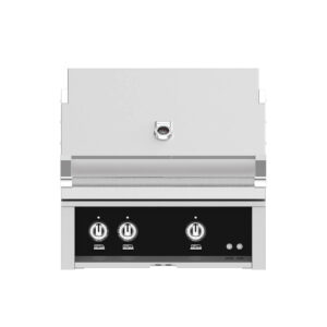 Hestan Outdoor 30 Inch Built-in Barbecue Grill - Stealth