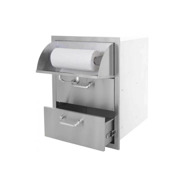 PCM 260 Series 16-Inch Triple Access Drawer With Paper Towel Holder